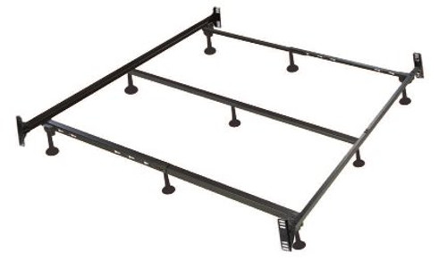 Heavy duty steel bed frame for all beds including waterbeds, memory foam, latex and spring mattresses.