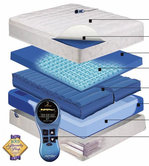 Adjust Air night Air Series 250 Adjustable Airbed | Air Chamber Air Mattress