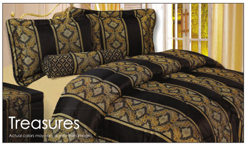 Oversized Waterbed and Standard Bed Comforter Set