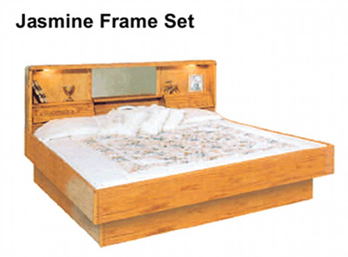 La Jolla Jasmine Oak Waterbed Frame. Oak Bedroom furniture