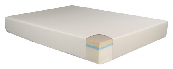 10-inch gel and memory foam mattress. Gel infused memory foam sleeps cooler and offers more conforming support.
