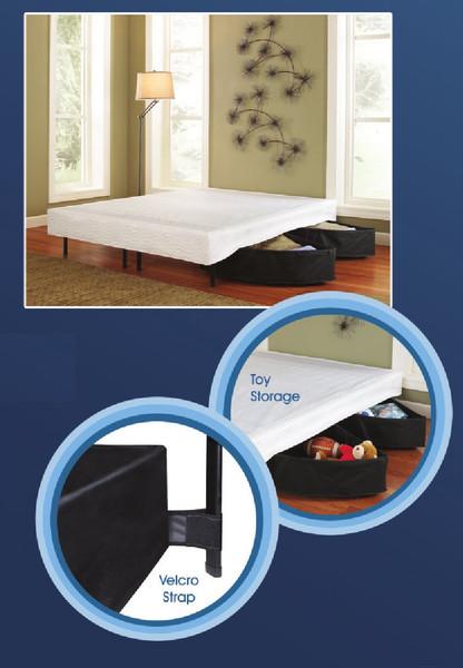 Platform bed frame storage bins. Platform Riser Storage Bins.
