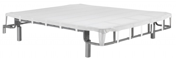 Forever Foundation. Sturdy tubular steel bed platform riser frame. Works with Memory foam or latex beds, won't void the warranty.