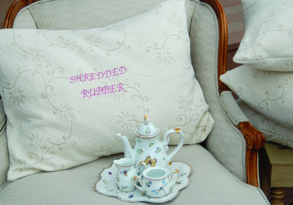 Suite Sleep Granulated Rubber filled pillow.Natural shredded rubber and Cotton
