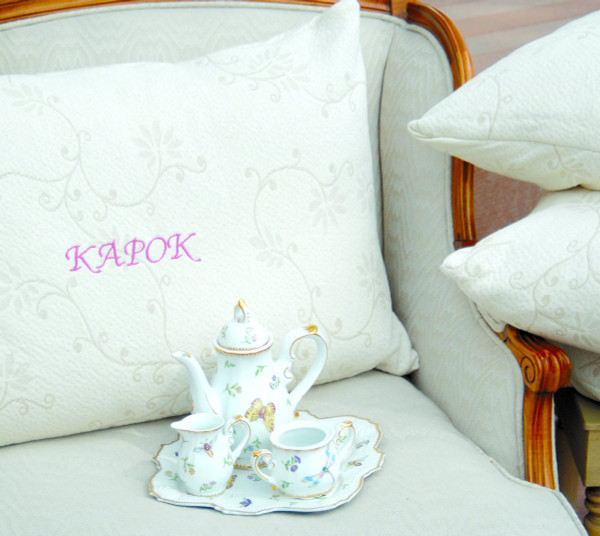 Suite Sleep silk kapok filled pillow. Orgainc silk fill and Cotton