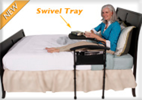 Bed Safety Rail |Independence Bed Table Safety Rail and Swivel Tray by Stander