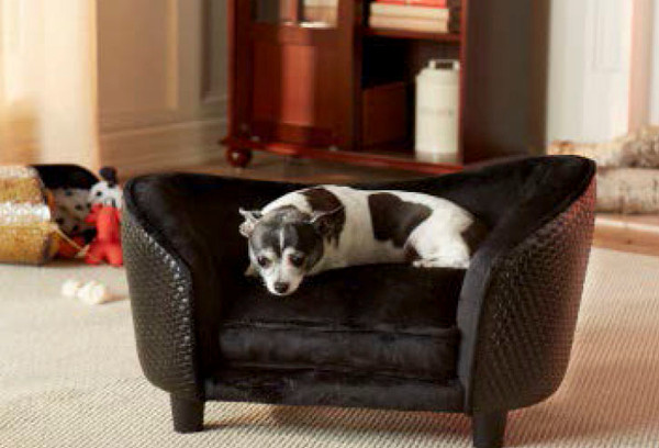 Enchanted Home Pet Ultra Plush Snuggle Bed Basketweave|pet supplies, pet beds, enchanted home pet beds, basketweave