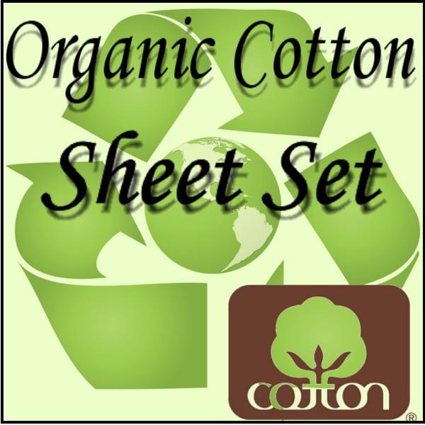 London Bridge Linens Organic Cotton T-300 Waterbed Sheet Set|london bridge linens, t300, organic cotton, sheet sets