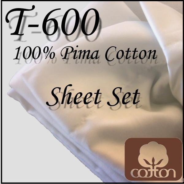 London Bridge Linens T-600 Cotton Conventional Sheet Set london bridge linens, t600, cotton, conventional, sheet sets