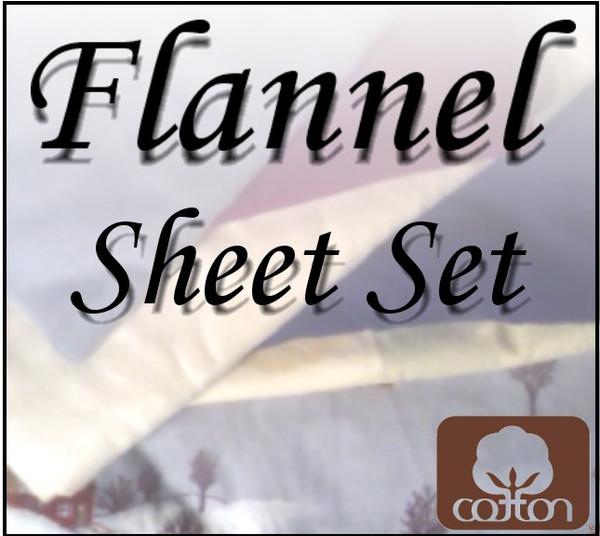 London Bridge Linens Flannel Conventional Sheet Set|london bridge linens, flannel, conventional, sheet sets