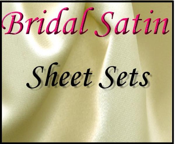 London Bridge Linens Bridal Satin Conventional Sheet Set london bridge linens, bridal satin, conventional, sheet sets