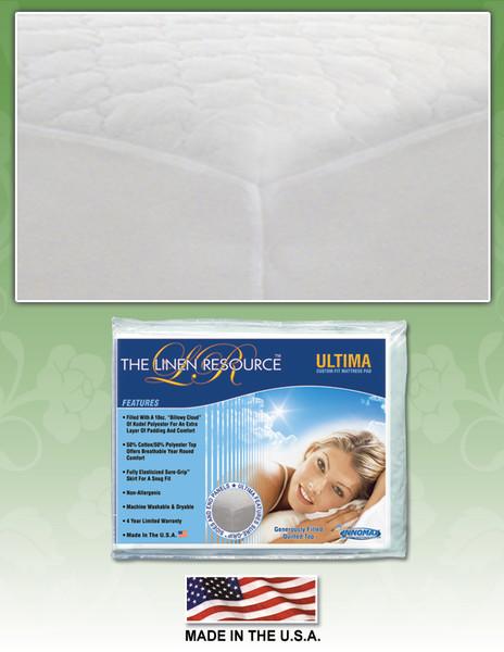 Ultima Custom Fit Mattress Pad by Innomax mattress pads, innomax, ultima, custom fit, the linen resource