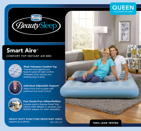 Boyd BeautySleep Smartaire Express Bed|boyd specialty sleep, beautysleep, air bed, smartiare, express bed, queen, twin