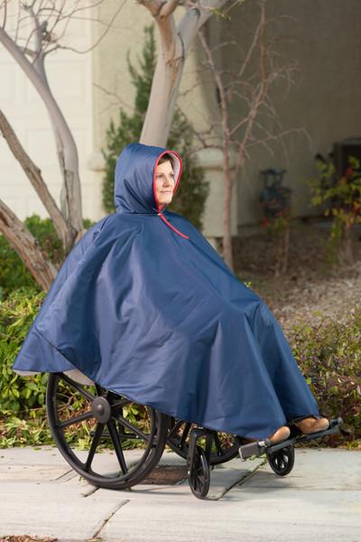 Wheelchair Rain Poncho by CareActive|careactive, wheelchair rain poncho, rain poncho, black, navy