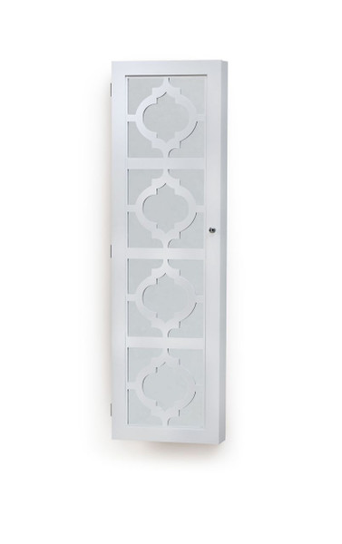 INNERSPACE DESIGNER JEWELRY ARMOIRE - OVER-THE-DOOR OR WALL-HANG / MIRRORED