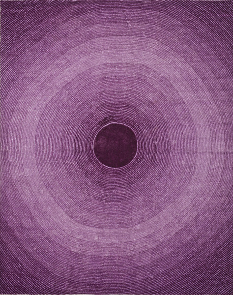 Dalton Home Indoor/Outdoor Artistry Circle Collection, 8 by 10-Feet, Purple