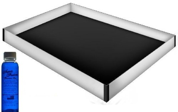 Queen Size 12 Mil Hardside Stand Up Safety Liner with a Premium 4oz Clear Bottle Conditioner|safety liner for waterbed, waterbed liner, hardside, queen, waterbed accessories, waterbed conditioner, promax safety liner, heavy duty liner