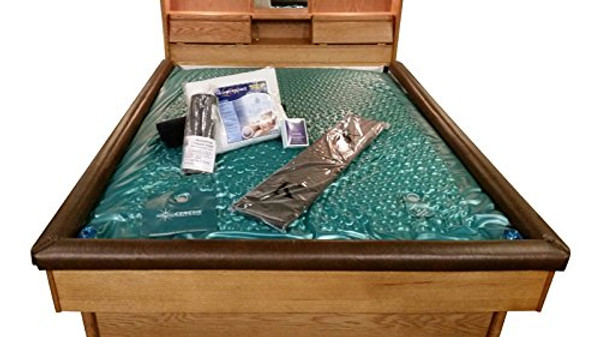 Innomax 600 St 22 mil Waveless Waterbed Mattress King Size with Elegant Stand up Liner High Volt Heater Conditioner Fill and Drain Kit and Soft Cushion Pad|waterbed, inomax waterbed, water bed, waterbed complete package, king size waterbed mattress, waveless waterbed