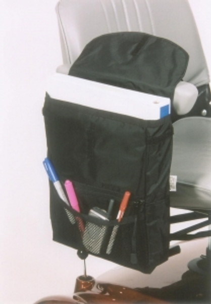 Saddle Armrest Bag by Ewheels ewheels, scooter accessories, mobility scooter accessories, accessories for mobility scooters, saddle armrest bag, standard, large, scooter bag, mobility scooter bags