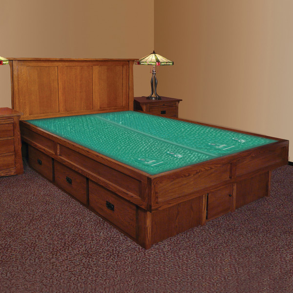Mission Creek Waterbed With Panel Headboard & Casepieces