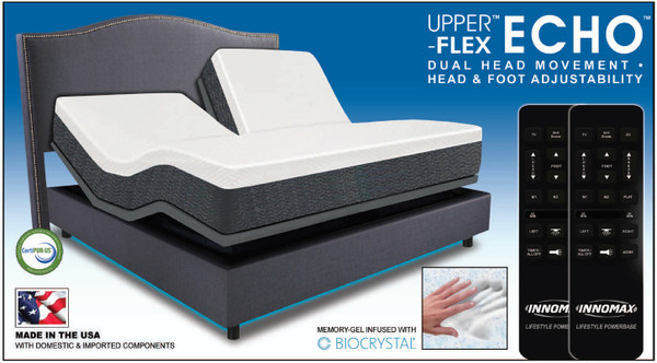 Upper Flex Echo Mattress Memory Gel Infused With Biocrystal