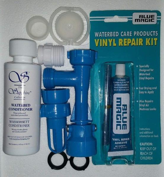 Blue Magic Waterbed Fill & Drain Patch Cap & Plug 4 OZ Conditioner Kit