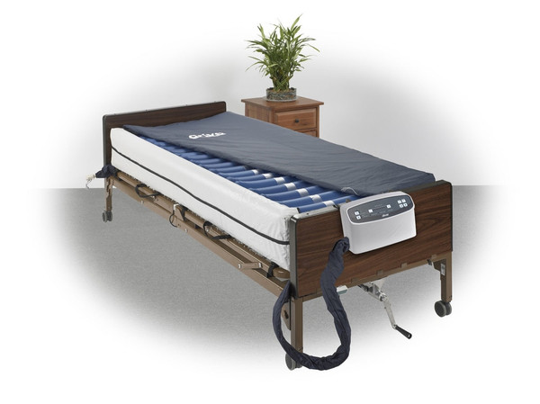 """Med Aire Plus 8"""" Alternating Pressure and Low Air Loss Mattress System with 10"""" Defined Perimeter"""