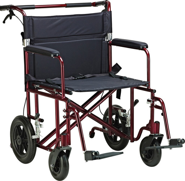 22 Inches Bariatric Aluminum Transport Chair