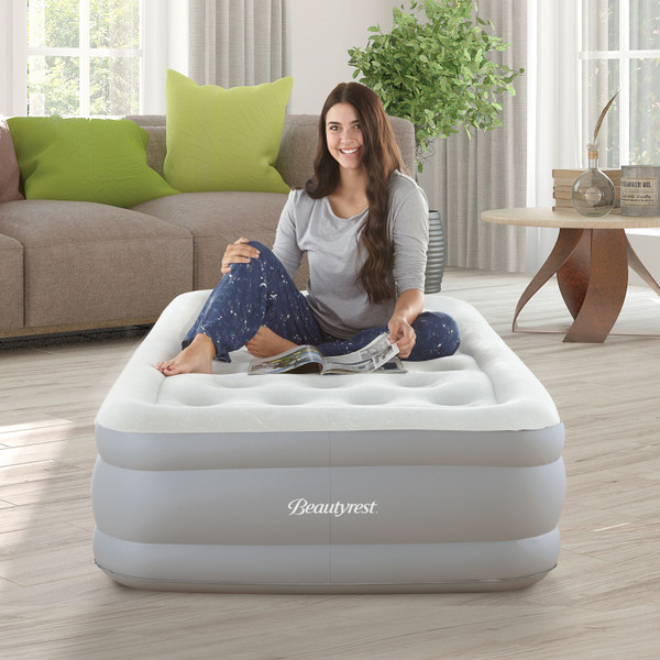 Simmons Beautyrest Sky Rise Air Mattress With Electric Pump Twin