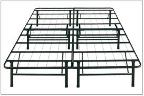 Platform bed frame eliminates the need for a frame foundation and boxspring