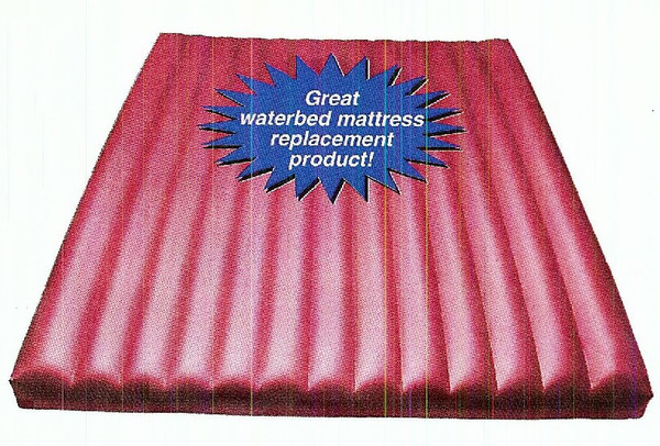 Specially desgigned airbed will fit in your old waterbed frame.