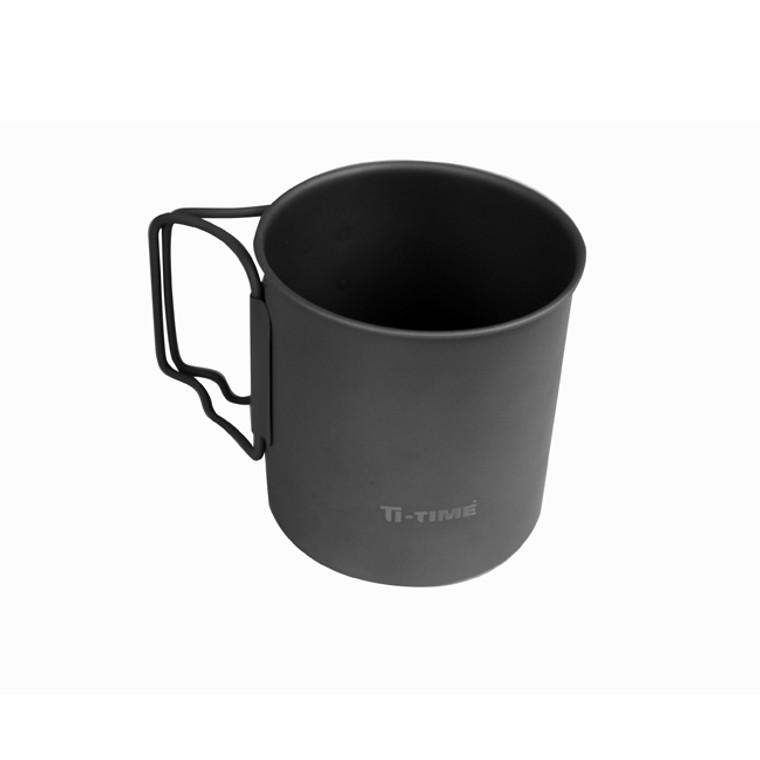 Single Wall Titanium Mug with Dark Finish
