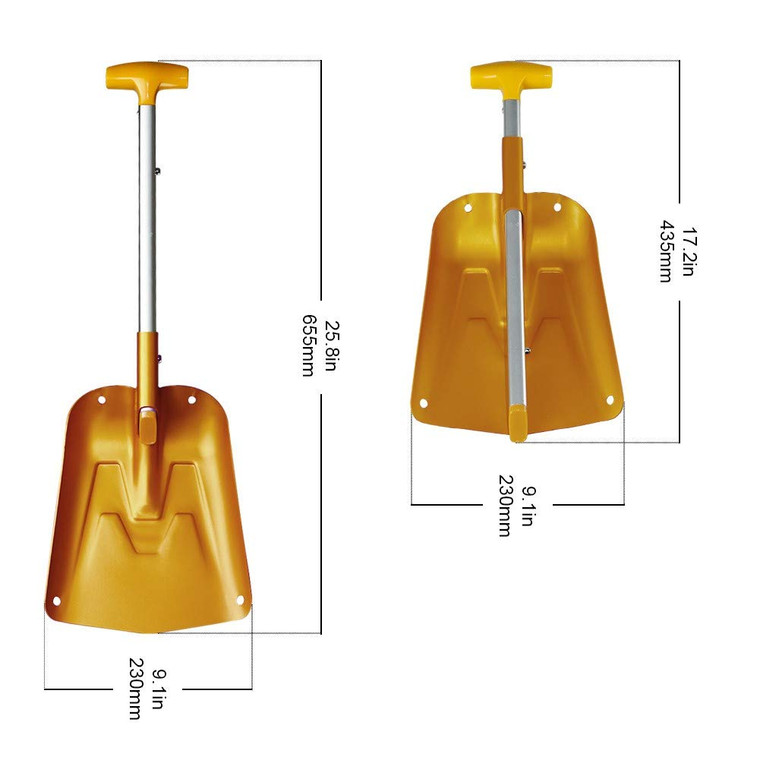 Aluminum Lightweight Utility Shovel Adjustable and Collapsible