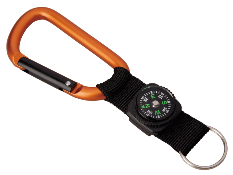 Carabiner 8 mm With Compass Strap