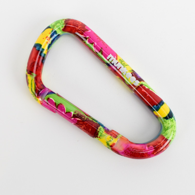 Carabiner 6 x 60 mm Flower Colored