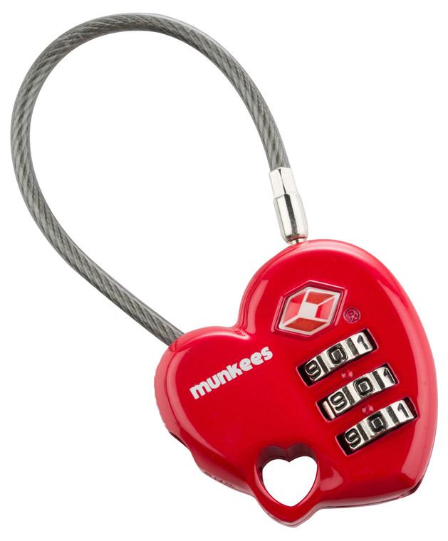 TSA Combination Lock - Heart