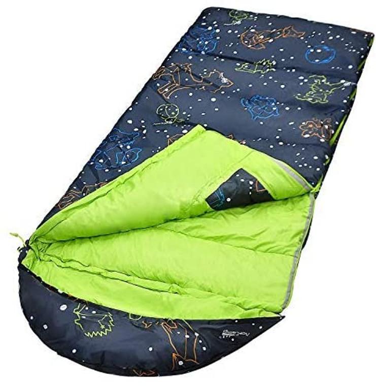 AceCamp Kids & Youth Rectangular Glow-in-The-Dark Sleeping Bag  30F/ -1℃
