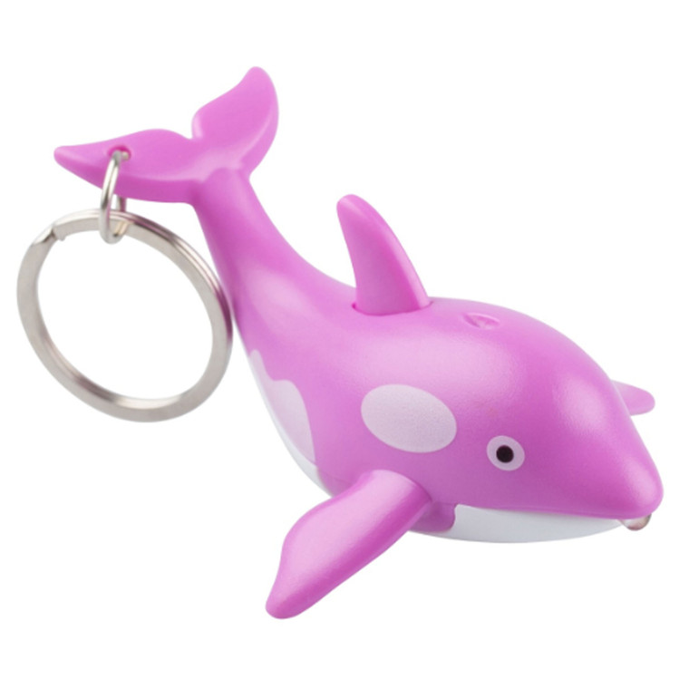 Pink Whale LED Keychain