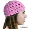 KUF57  - Pink & White -  Beanie Kufi. 100% Cotton. Made in Guatemala. https://www.mayawear.com