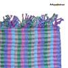 "SSRF109 ""Iris"" - Blue & Purple Scarf Fringe. 100% Cotton. Made in Guatemala. https://www.mayawear.com"
