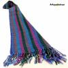 "SSRF109 ""Iris"" - Blue & Purple Scarf Fringe. 100% Cotton. Made in Guatemala."