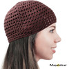 KUF64 - Brown Open Knit Beanie