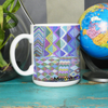 MayaWear Tapestry Coffee Cup Blue