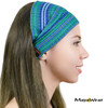 "BAND107 - ""Blue Caribbean"" Bandana. 100% Cotton. Made in Guatemala."