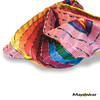 """BAND114 """"Pinky"""" Bandana - Pink & colors https://www.mayawear.com"""