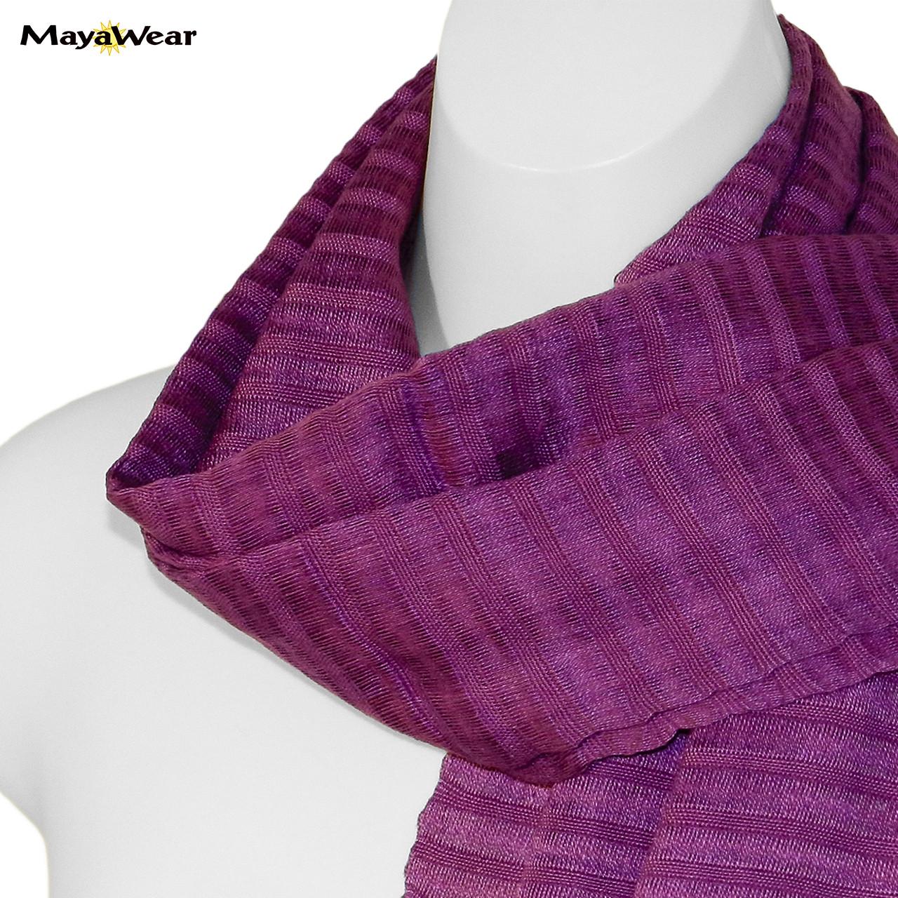 "SSRF103 - ""Raspberry"" Scarf w/Fringe. 100% Cotton. Made in Guatemala. https://www.mayawear.com"