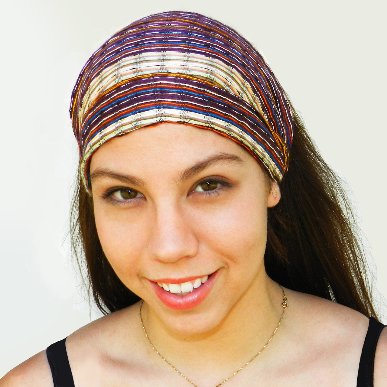 "BAND155 - ""Harmony"" -  Adult 100% Cotton Bandana. Made in Guatemala. https://www.mayawear.com"