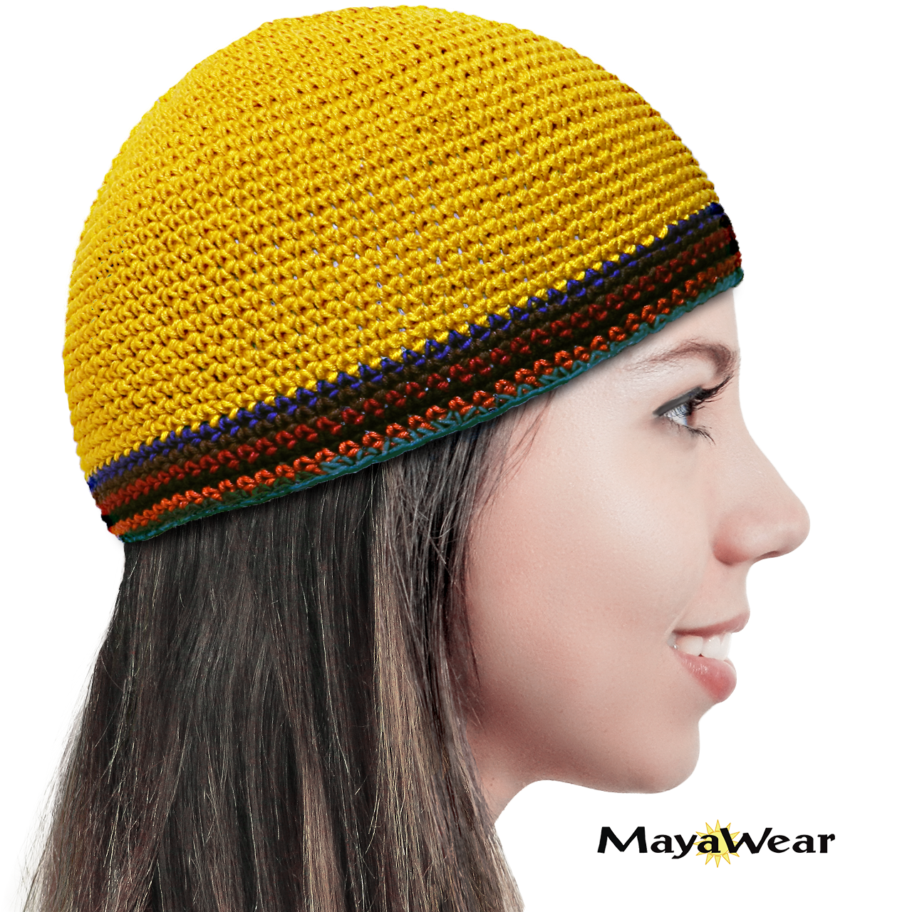 KUF62 Golden with Multi-Color Trim www.mayawear.com
