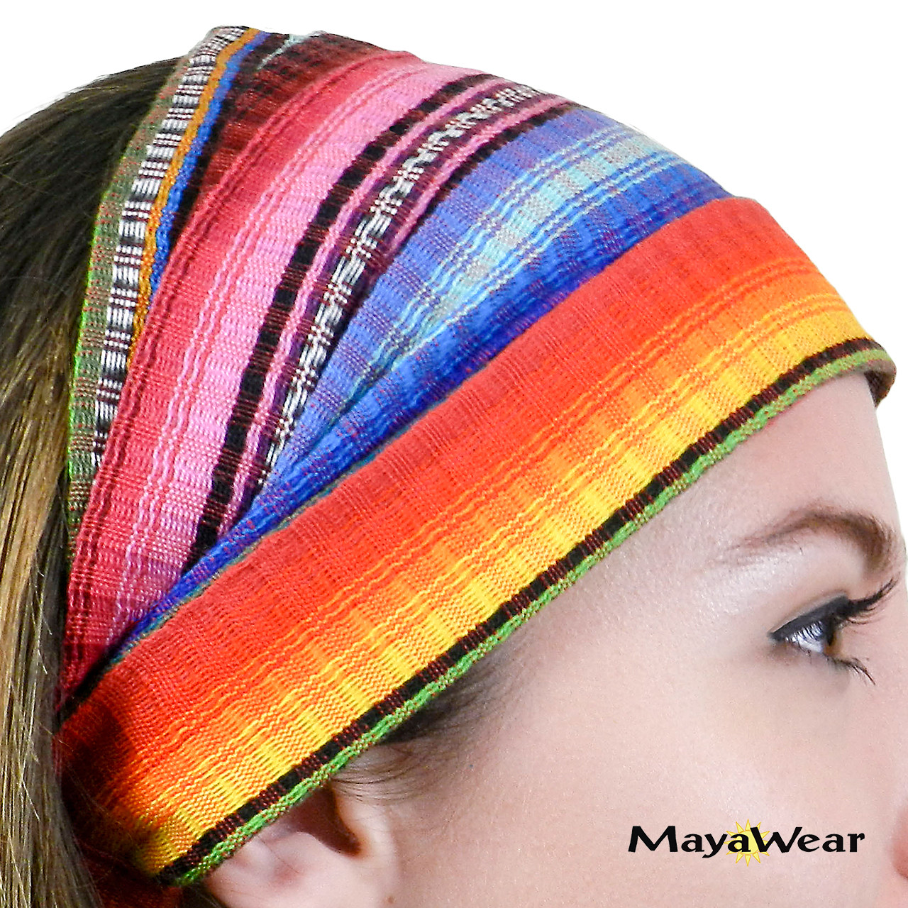 "#BAND110 - ""Tequila Sunrise"" Bandanna. 100% Cotton. Made in Guatemala. https://www.mayawear.com"