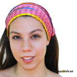 "BAND114 ""Pinky"" Bandana - Pink & colors https://www.mayawear.com"
